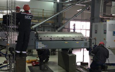 Монтаж электросилового оборудования декантера
